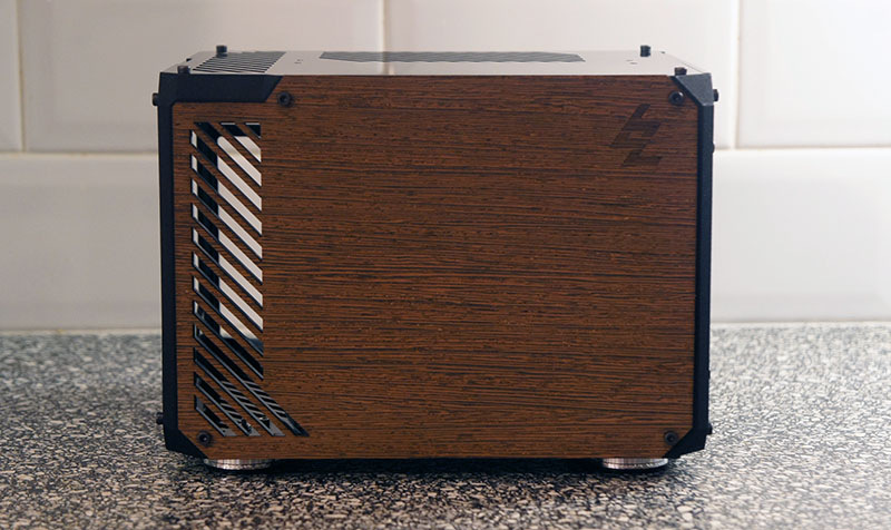 LZ7 SFF ITX Gaming Case Wood Wenge Veneer Front Panel