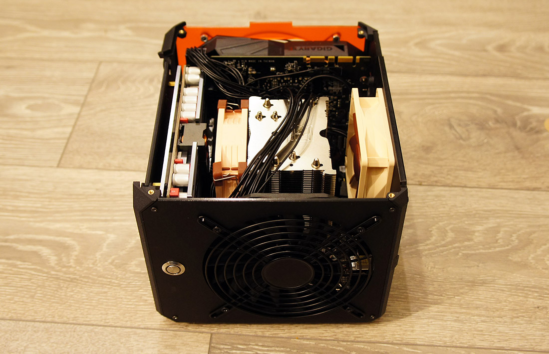 LZ7 ITX Gaming case with Noctua NH-U9S