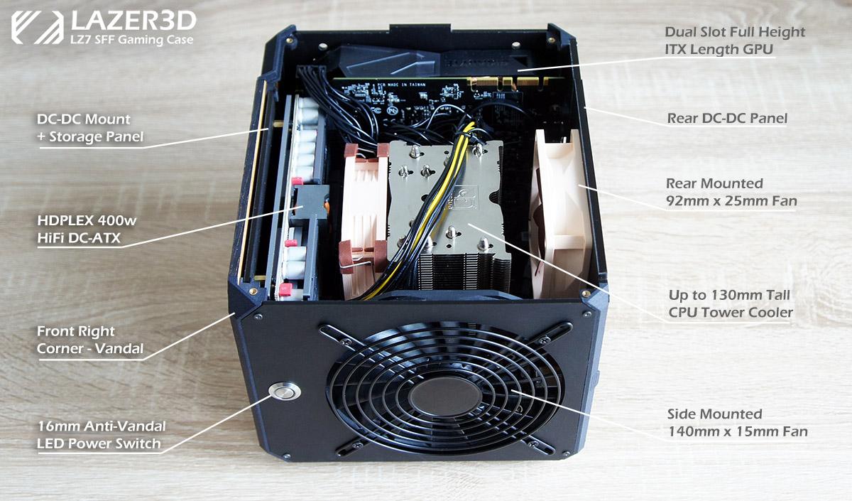 LZ7 DC-DC PSU and Tower Cooler Setup